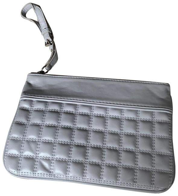 Item - Light Quilted Wristlet Grey Faux Leather Clutch
