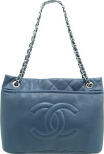 Chanel Timeless Caviar Tote in Darkblue