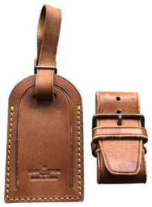 Louis Vuitton Louis Vuitton Large Luggage Tag with belt #202