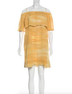 Raquel Allegra short dress Yellow Ombre Sundress Gauze Tie Dye on Tradesy