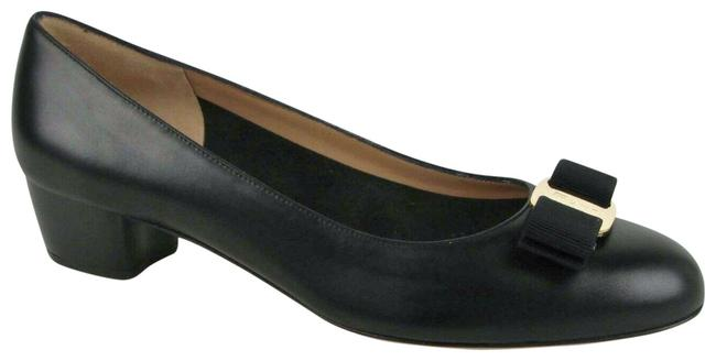 Item - Black W Women's Vara Leather W/Canvas Bow 0427344 Pumps Size US 10.5 Regular (M, B)