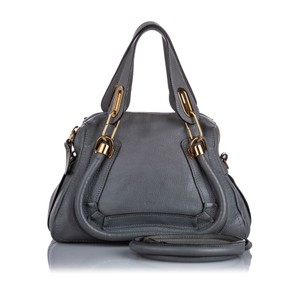Chloe Ff0clst022 Vintage Leather Satchel in Gray