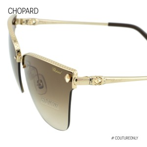 Chopard New SCH-C19S-300 imperiale Crystals Semi-Rimless Square Cat-Eye