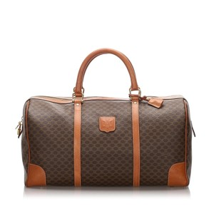 Celine 0ccetr005 Vintage Leather Brown Travel Bag