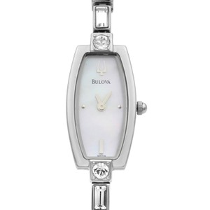 Bulova Crystal MOP Dial Quartz Ladies Watch With Necklace