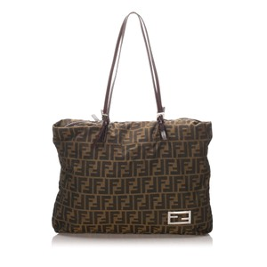Fendi 0dfnto002 Vintage Leather Tote in Brown