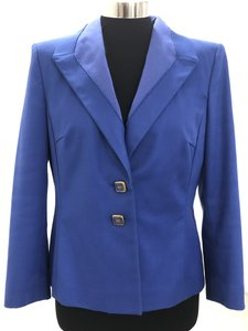 Escada Logo Style#50016223 Cotton Stretchy Blue Blazer