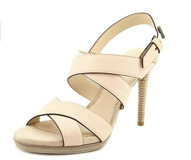 Item - Beige Boxer Strappy Leather Heel 1/2 Sandals Size US 7.5 Regular (M, B)