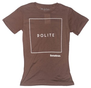 Three for Twelve T Shirt Brown