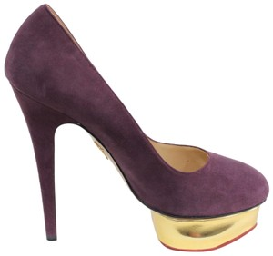 Charlotte Olympia Suede Party PURPLE Pumps