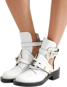 Balenciaga WHITE WITH GOLD AND SILVER HARDWARE Boots