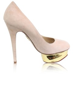 Charlotte Olympia Suede Party PASTEL PINK Pumps