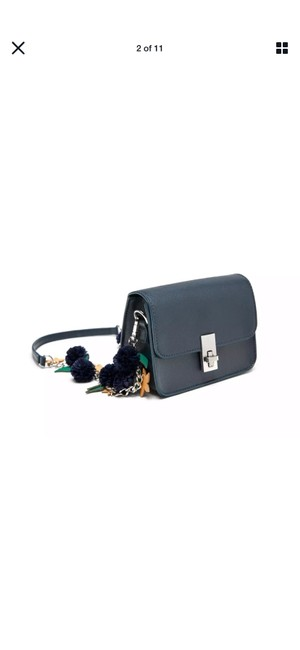 Item - Small Purse Navy Blue Faux Leather Cross Body Bag
