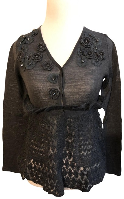 Item - Charcoal Gray Mohair And Cardigan Size Petite 2 (XS)