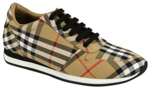 Burberry Women's Checkered Canvas Brown Athletic