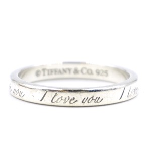 Tiffany & Co. 925 sterling silver I love you Ring size 7.25