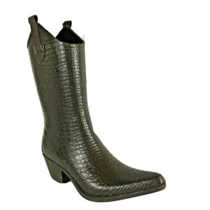 Corkys Rubber Western Pointed Toe Brown Boots