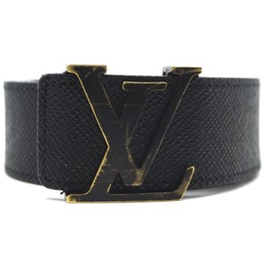Louis Vuitton LV logo monogram initials Taiga leather Belt size 100 38
