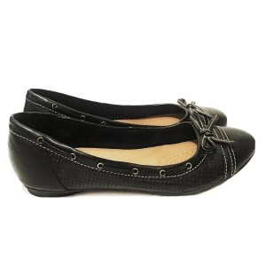 clarks Perforated Casual Black Flats