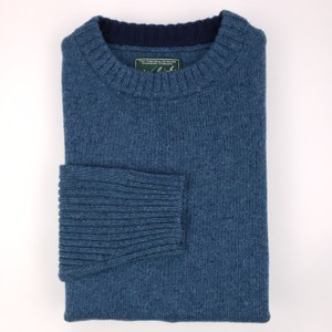 Woolrich Blue Men's Sweater M Wool Excellent Preowned Condition Shirt