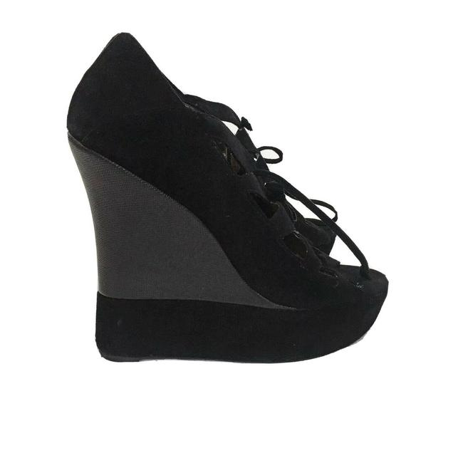 Item - Black Suede Harlow Wedges Size US 9 Regular (M, B)