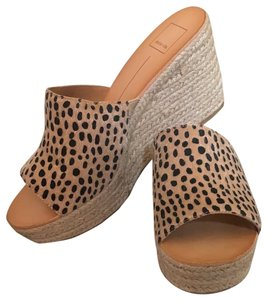 Dolce Vita Leopard faux calf hair Wedges