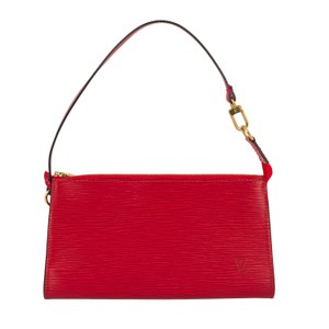 Louis Vuitton Leather Wristlet in Red