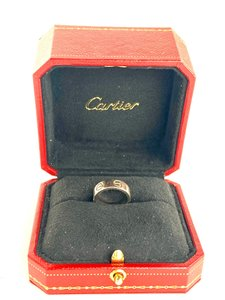 Cartier 18k White Gold Love Ring Size 45 2car519