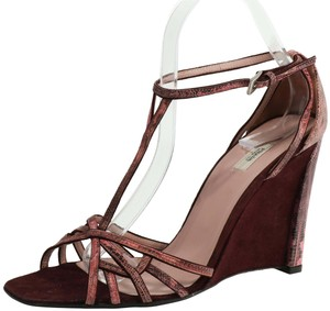 Prada Purple Wedges
