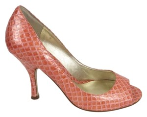 Enzo Angiolini Patentleather Leather Snakeskin Pink Pumps