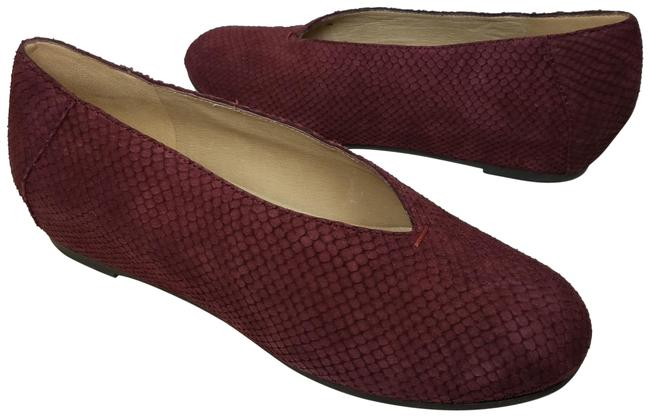 Item - Dark Plum Women Patch Suede Embossed Flats Size US 8 Regular (M, B)