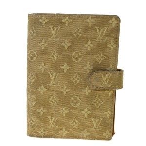 Louis Vuitton Louis Vuitton Agenda Planner Mini lin Notebook Wallet