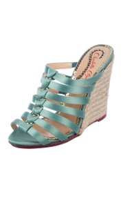 Charlotte Olympia mint green Wedges