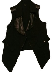 Mossimo Supply Co. Vest Faux Leather Cardigan