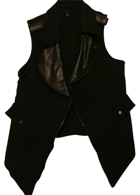 Preload https://item2.tradesy.com/images/mossimo-supply-co-black-faux-leather-vest-cardigan-size-4-s-2736931-0-0.jpg?width=400&height=650