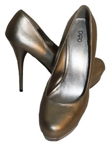 Cato Metallic Taupe Pumps