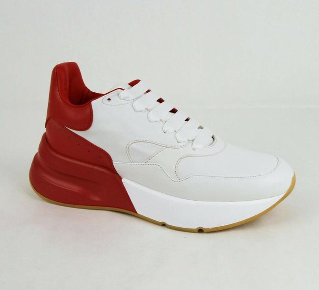 Item - White/Red Men's White/Red Smooth Leather Platform Sneaker 40/Us 6.5 535530 9092 Shoes