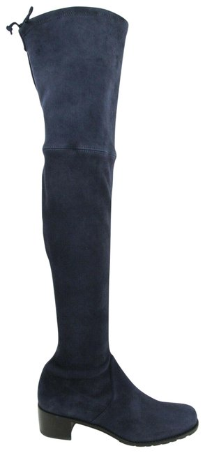 Item - Nice Blue Women's Midland Stretch Suede Knee High 8m Boots/Booties Size US 8 Regular (M, B)
