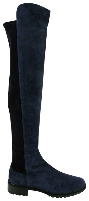 Item - Nice Blue 5050 City Suede Knee High 8m Boots/Booties Size US 8 Regular (M, B)