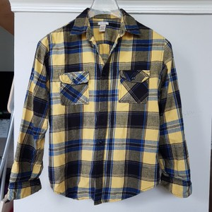 Arizona Jean Company Button Down Shirt Yellow plaid
