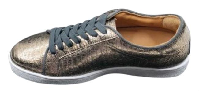 Item - Gold Silver Alexis Bronze Lizard Leather New Sneakers Size US 6 Regular (M, B)