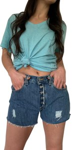Levi's Button Fly Jean Cut Off Shorts Blue