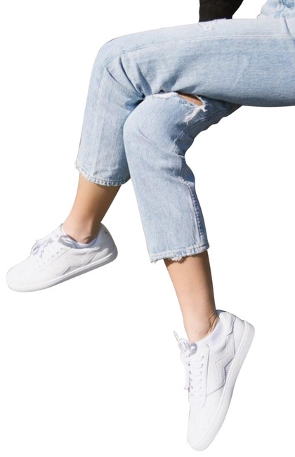 Item - White Nappa Leather Women's Daryl Low-top Sneakers Size US 7 Regular (M, B)