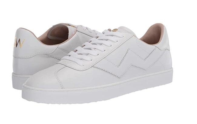 Item - White Nappa Leather Women's Daryl Low-top Sneakers Size US 8.5 Regular (M, B)