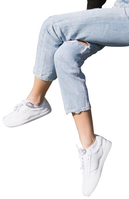 Item - White Nappa Leather Women's Daryl Low-top Sneakers Size US 9.5 Regular (M, B)