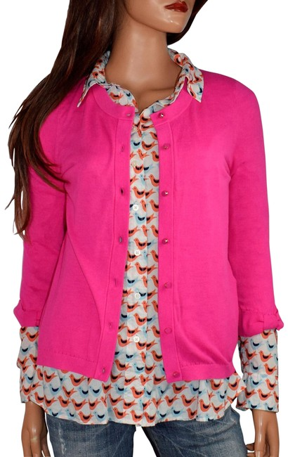Item - Pink Somerset Bow Sleeve Cardigan Size 4 (S)