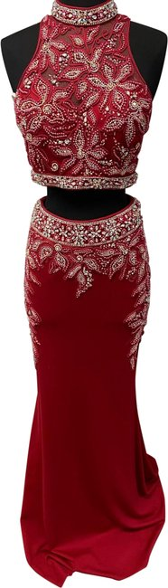 Item - Red 71011 Long Formal Dress Size 4 (S)
