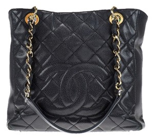 Chanel Pst Tote in Black