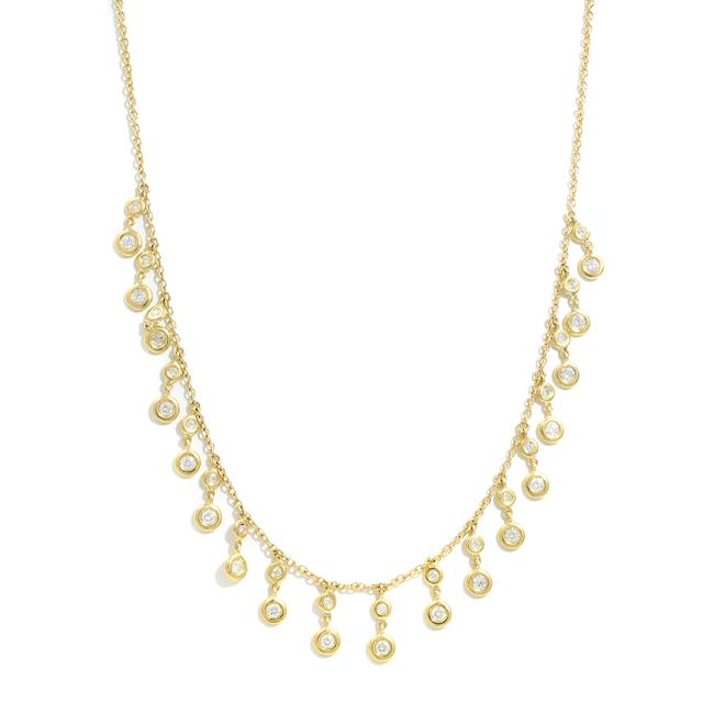 Item - 14k Yellow Gold Diamond Drop 0.93cts Necklace