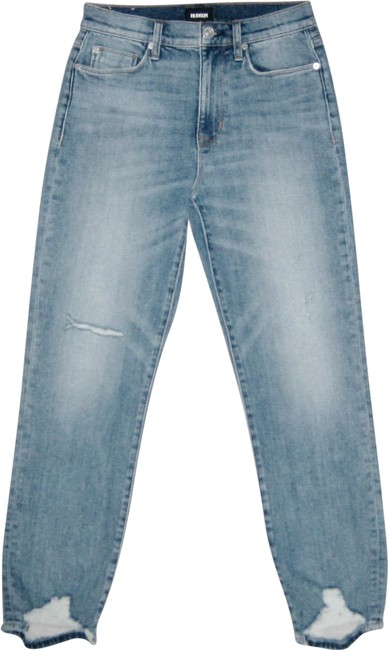 Hudson Blue Light Wash Zoeey High Rise Straight Crop In Dip Out Capri/Cropped Jeans Size 28 (4, S) Hudson Blue Light Wash Zoeey High Rise Straight Crop In Dip Out Capri/Cropped Jeans Size 28 (4, S) Image 1
